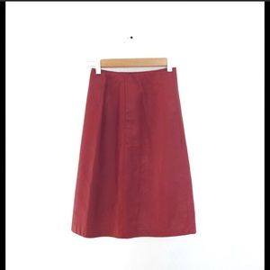 Danier Leather Pencil Skirt Red Size 2